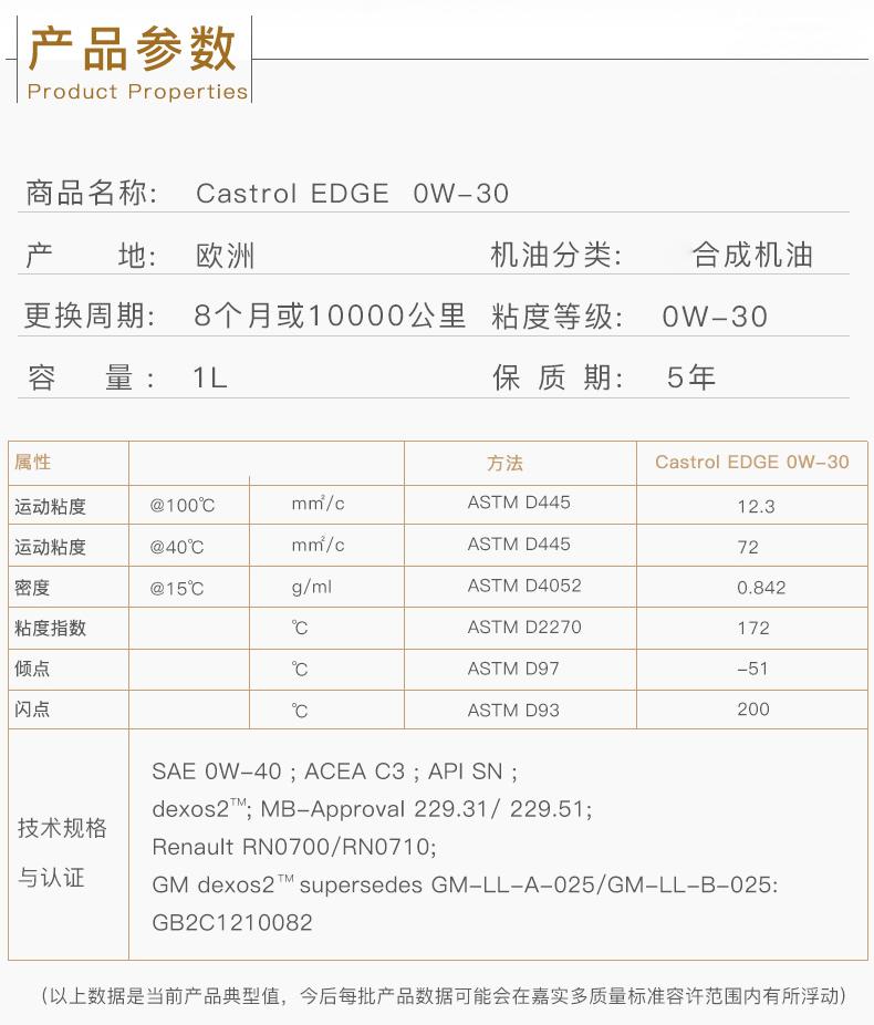 嘉实多 全合成机油 极护EDGE FST 0W-30 C3 SN 1L装-第4张图片-郑州市冠恒贸易有限公司【官方网站】-车用润滑油服务专家
